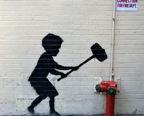 Banksy-Hammer-Boy-Upper-West-Side